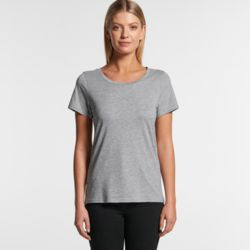 Womens Shallow Scoop Tee Thumbnail