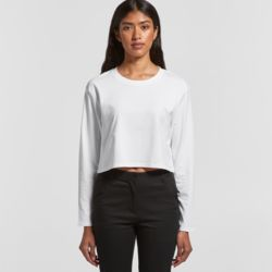 Womens Crop Long Sleeved Tee Thumbnail